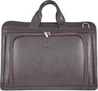 Men's Henrik Luxury Genuine Leather Business Briefcase Messenger Bag Brown