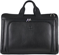 Men's Henrik Luxury Genuine Leather Business Briefcase Messenger Bag Black
