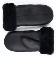 sheepskin mitten solid black