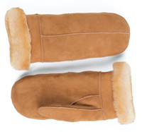 Women's Premium Shearling Sheepskin Leather Fur Mittens