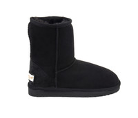 Classic Sheepskin boots in Black suede color