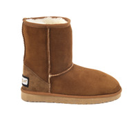 Women's Classic Genuine Sheepskin Boots - Chestnut Color
