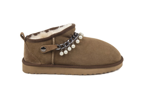 Women's Genuine Sheepskin Slipper - Sand
