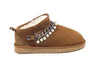 Women's Genuine Sheepskin Slipper - Chestnut
