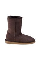 Women's Classic Genuine Sheepskin Boots - Brown Suede