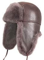Shearling Sheepskin Aviator Fur Hat - Cashmere