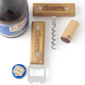 Bottle Opener Set, Bottle and Corkscrew