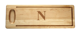 "Monogrammed Artisan Bread Maple Wood 20""x7"""
