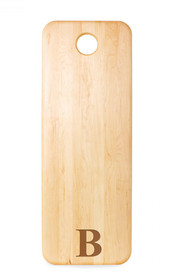 "Monogrammed Maple Long Board 30""x11"""