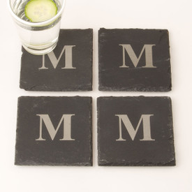 Monogrammed Slate Coasters (set of 4)