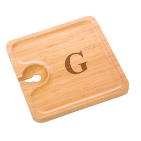 Monogrammed Bamboo Party Plate (set of 4)