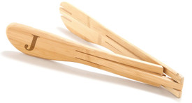 Monogrammed Bamboo Salad Tongs