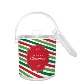 Holiday Ice Bucket with Paper Insert 1 1/2 Qt.