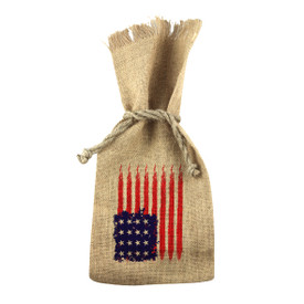 All American 1 Bottle Jute Tote