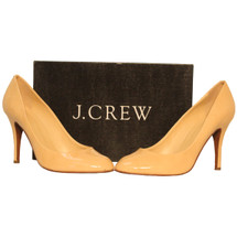 J. CREW Mona Patent Pumps Warm Bisque Size 9