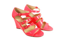 J. CREW GWENDOLYN WEDGES NEON PINK (9)