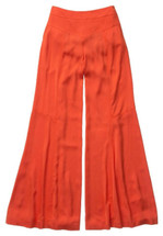 Anthropologie Leifsdottir Kimono Satin Wide-legs Size 6 $268 Super Flare Pants