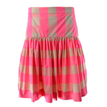 J. Crew Taffeta skirt in neon buffalo check Soft Blossom Capri (10)