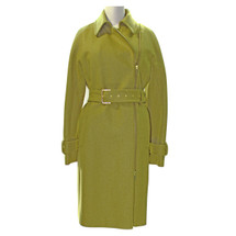 J. Crew Belted zip trench coat in wool melton Heathered Mustard (6)