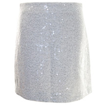 Pre-owned Kenar Sexy Sequin Mini Skirt Ivory (6)