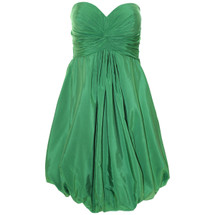 Pre-owned ANTHROPOLOGIE  HITHERTO GREEN BUBBLED STRAPLESS DRESS (4)