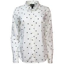 NWT J. Crew Perfect Shirt in Onyx Dot (10)