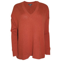 Pre-owned J. Crew V-neck tunic sweater Brick (S)