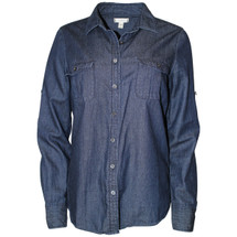 Pre-owned J. Crew  Keeper chambray shirt in dark rinse (8)