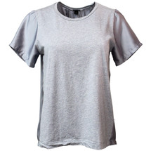 Pre-owned J. Crew SILKY KNIT T-SHIRT Grey (S)