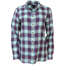 Pre-owned J. Crew Shrunken boy shirt in green-red plaid (6)