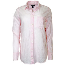 Pre-owned J. Crew Boy shirt in pink skinny stripe Pink (6)