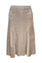 Pre-Owned Cynthia Rowley Faux Suede Skirt Beige (8)