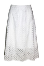 Pre-Owned Amercrombie & Fitch Eyelet Skirt White (L)