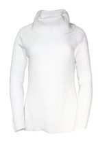 Pre-Owned Tommy Hilfiger Chunky Knitted Turtleneck Sweater White (M)