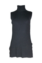 Pre-Owned Adrianna Papell Sleeveless  Knitted Turtleneck Sweater Black (S)