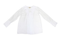 Michael Kors Basics Sheer Top White (M) $130