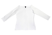 J. Crew Long-sleeve off-the-shoulder T-shirt White (M)