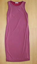 Pre-owned Mickey & Joey Sexy Midi Sleeveless Fitted Body Con Dress  Wine (L)