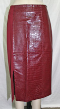 Pre-owned GUESS Womens Candra Midi Pencil Skirt  Zinfandel (M)