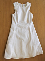 Pre-owned Calvin Klein  Fit and Flare Dress CD7G136V Size 6 Regular White