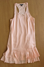 Pre-owned Banana Republic  Accordion Pleated Dress Peach (10)
