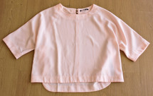 Pre-Owned Harlowe & Graham Pink  Women's Size Small  Hi-Lo Mod Crewneck Blouse