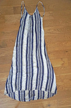 Pre-owned Flynn Skye Stripped Scoop Back Maxi Dress Nautical Stripe (2)