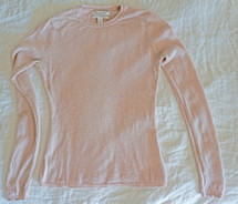 Pre-owned Ellen Tracy 100% Cashmere Pink Crewneck Sweater Size Medium