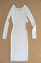 Charlotte Russe Ribbed Midi Bodycon Sweater Dress White (L) Large