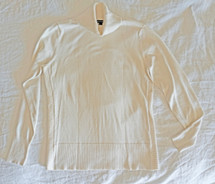 Pre-owned Cable & Guage Side Ribbed Turtleneck Ivory (S) Small