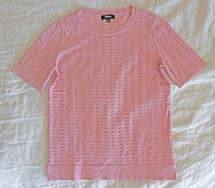 Pre-owned Premise Studio Short Sleeve Sweater Top Pink (XS) xsmall