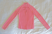 Pre-owned Jeanne Pierre Ribbed Turtleneck Pink (S) Small