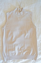 Pre-owned Philosophy Sleeveless  Turtleneck Nude (M) Medium