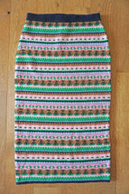 NWT J. Crew Fair Isle Tube Sweater Pencil Skirt  Navy Emerald Size Small